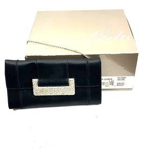 Judith Lieber Black Satin Bag